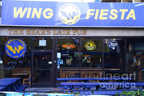 Uc Berkeley . Bears Lair Pub . 7d10165 Print by Wingsdomain Art and Photography