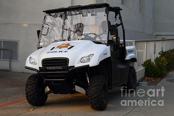 Uc Berkeley Campus Police Buggy  . 7d10184 Print by Wingsdomain Art and Photography
