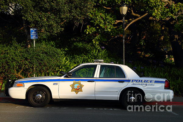 Uc Berkeley Campus Police Car  . 7d10178 Print by Wingsdomain Art and Photography