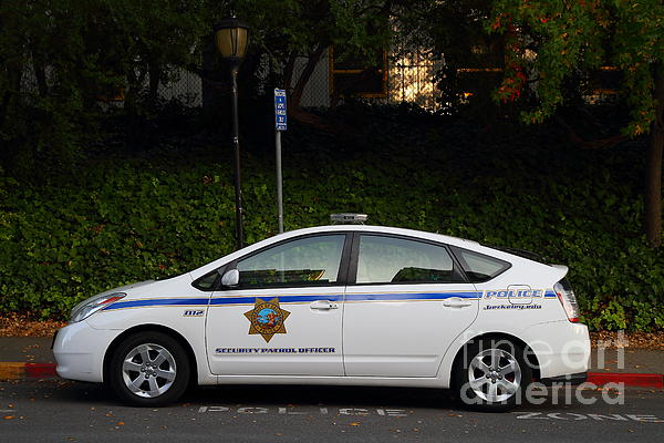 Uc Berkeley Campus Police Car  . 7d10181 Print by Wingsdomain Art and Photography