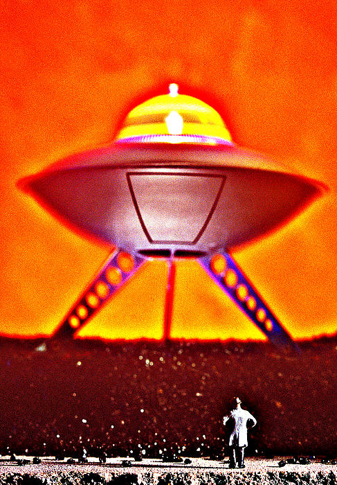 UFO Print by L S Keely