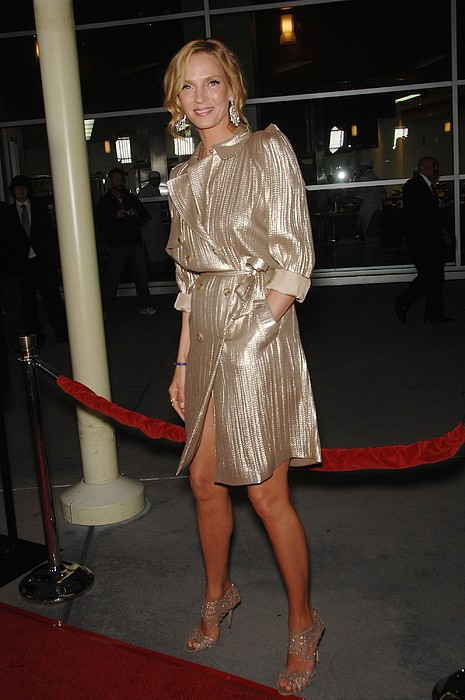 Uma Thurman At Arrivals For Ceremony Print by Everett