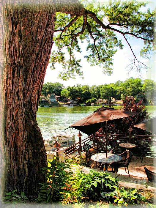 Joan  Minchak - Umbrellas and Trees