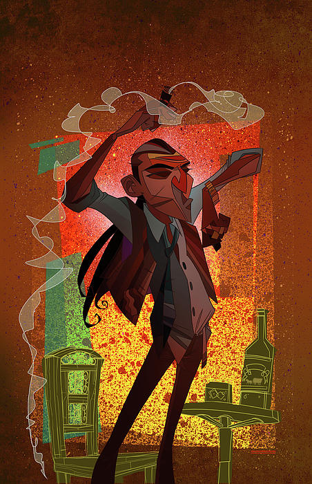 Un Hombre Print by Nelson Dedos Garcia