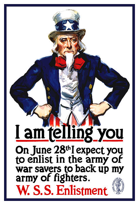 Uncle Sam -- I Am Telling You Print by War Is Hell Store