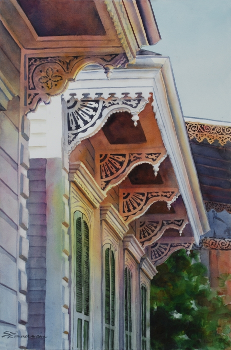 Under The Eaves Painting  - Under The Eaves Fine Art Print