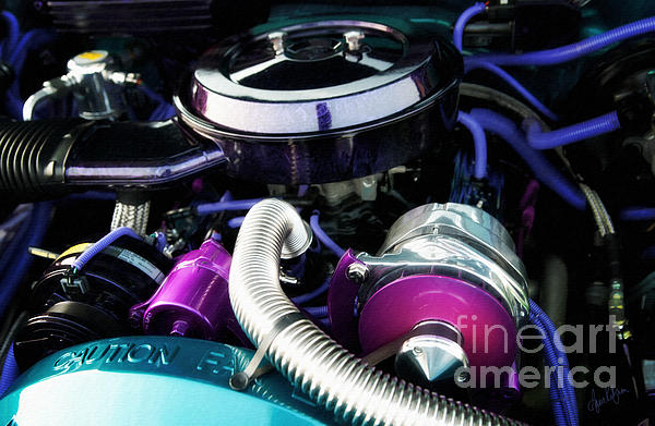 Under The Hood By House Of Kolor Print by Anne Kitzman