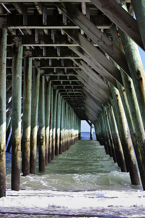 Under The Pier Print by Teresa Mucha