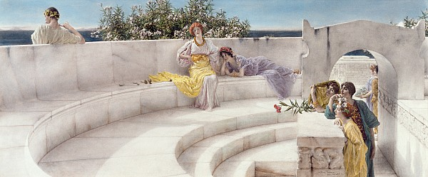 Under The Roof Of Blue Ionian Weather Print by Sir Lawrence Alma-Tadema