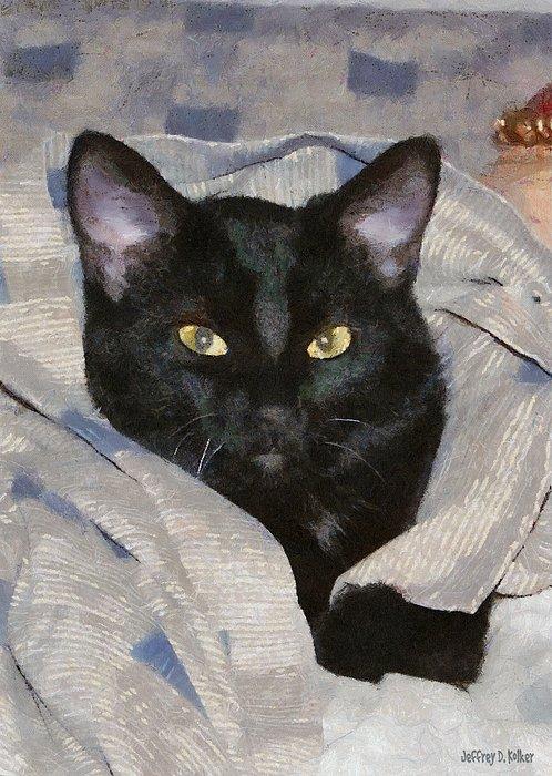 Undercover Kitten Print by Jeff Kolker