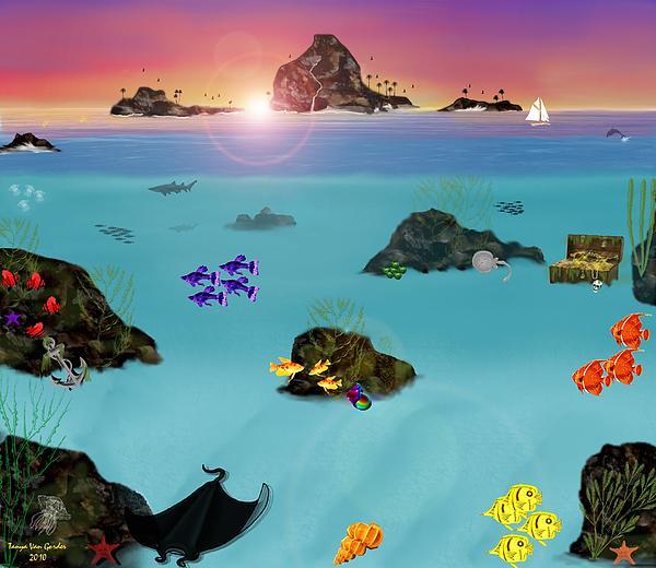 Undersea View Print by Tanya Van Gorder
