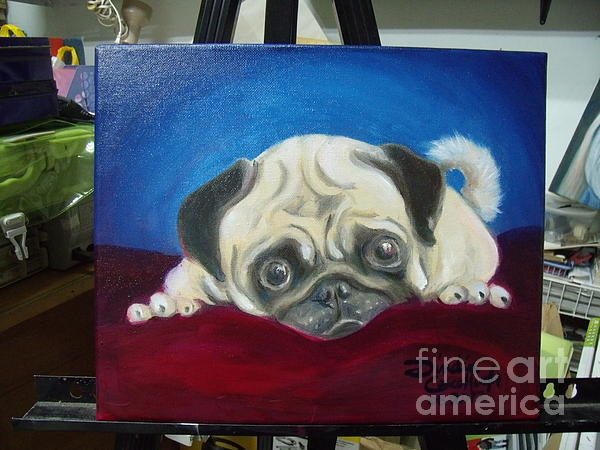 Dindin Coscolluela - Unfinished Red Velvet Pug