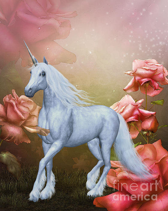 Unicorn And Roses By Smilin Eyes Treasures