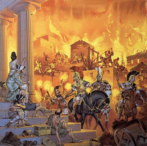 Unidentified Roman Attack Print by Angus McBride
