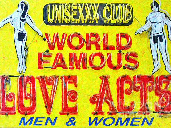 Unisexxx Club Print by Wingsdomain Art and Photography