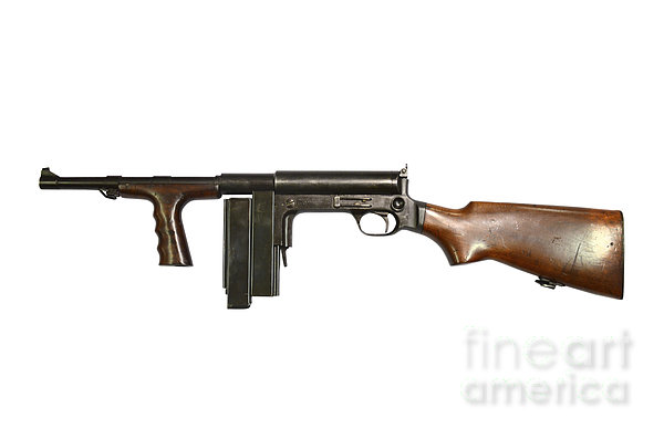 United Defense M42 Submachine Gun Print by Andrew Chittock