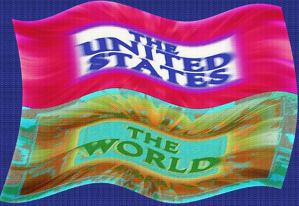 United States - The World - Flag Unfurled Print by Steve Ohlsen