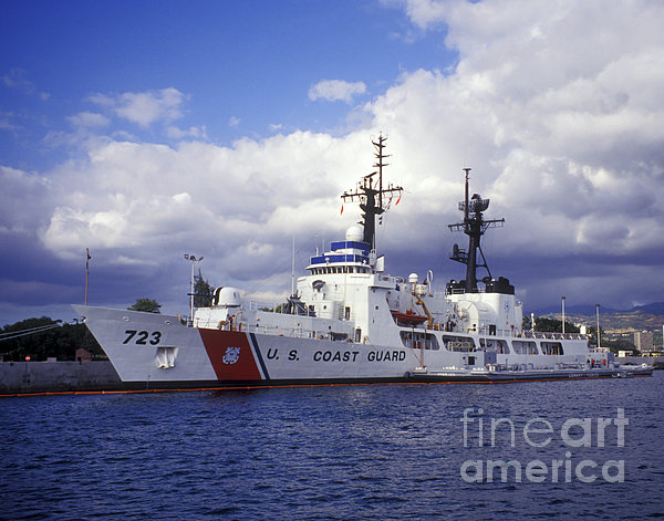 United States Coast Guard Cutter Rush Print by Michael Wood