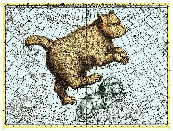 Ursa Major Constellation, Bode Star Atlas Print by Detlev Van Ravenswaay