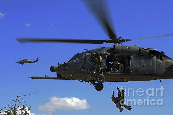 U.s. Air Force Pararescuemen Print by Stocktrek Images