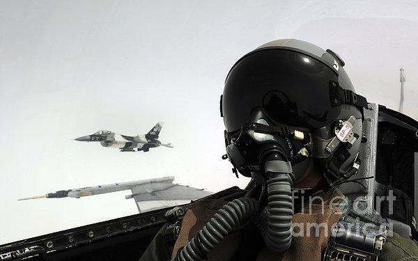 U.s. Air Force Pilot Takes Print by Stocktrek Images
