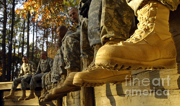 U.s. Army Soldiers Prepare For Basic Print by Stocktrek Images