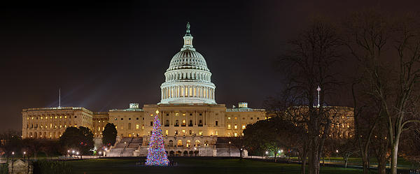 U.s. Capitol Christmas Tree 2009 Print by Metro DC Photography