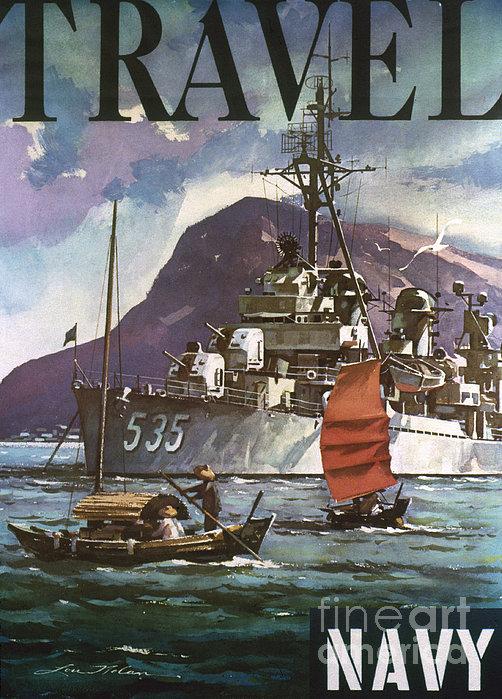 U.s. Navy Travel Poster Print by Granger