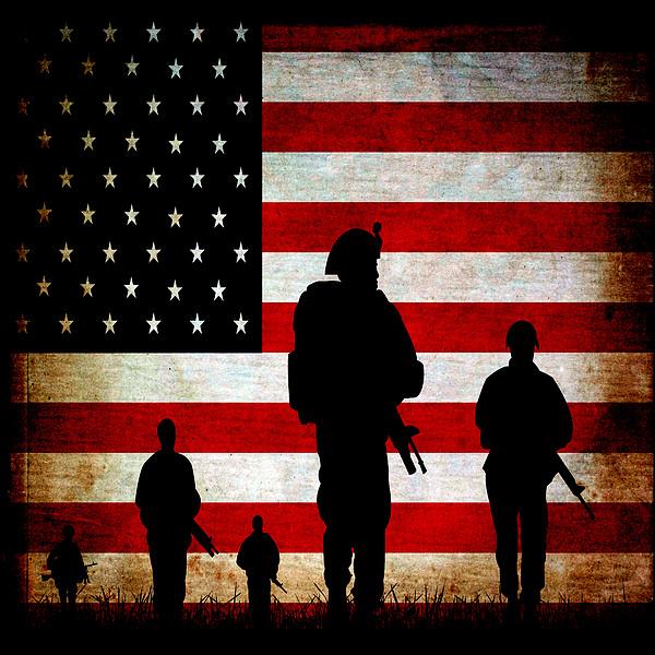 Usa Military Print by Angelina Vick