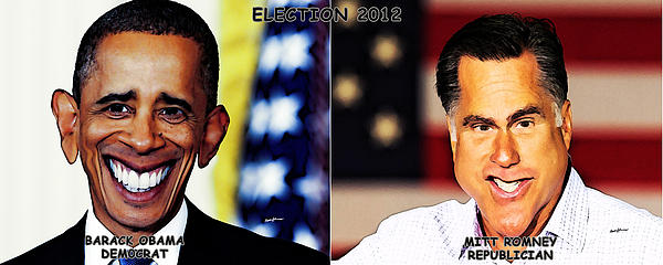 Usaelections 2012 Print by Anthony Caruso