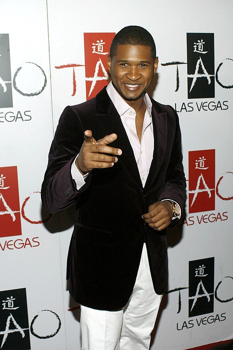 Usher At Arrivals For Tao New Years Eve Print by Everett