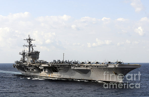 Uss Carl Vinson Underway In The Arabian Print by Stocktrek Images