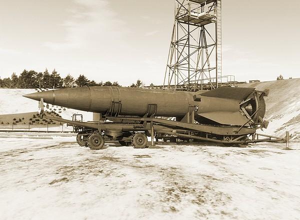 V-2 Rocket Print by Detlev Van Ravenswaay
