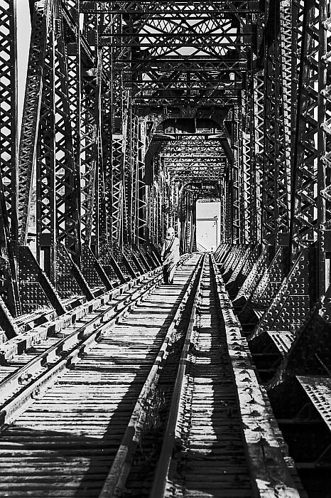 Vagrant On Bridge Print by Don Wolf