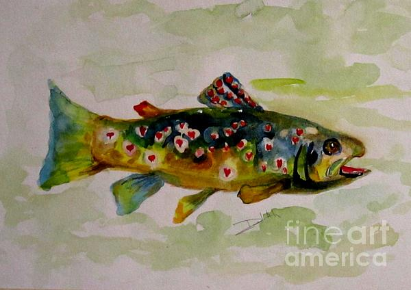 Valentine Trout Print by Delilah  Smith