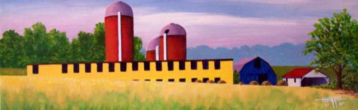Valley Farm Print by Hugh Harris