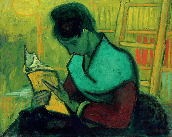 Van Gogh The Novel Reader Print by Vincent Van Gogh