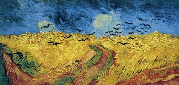 Van Gogh Wheatfield With Crows Print by Vincent Van Gogh
