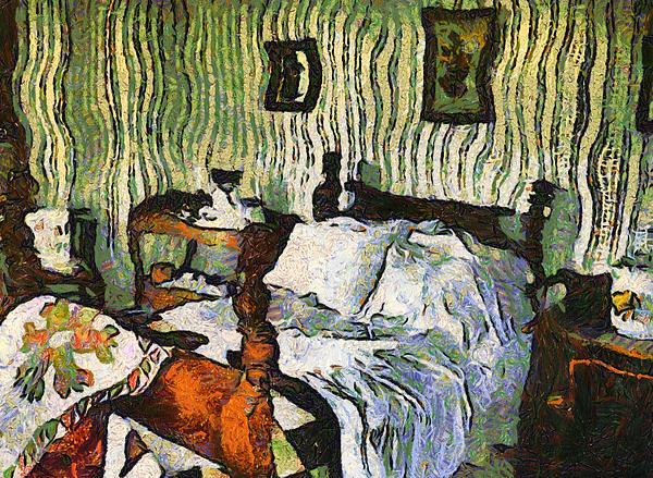 Van Gogh's Bedroom Print by Mario Carini