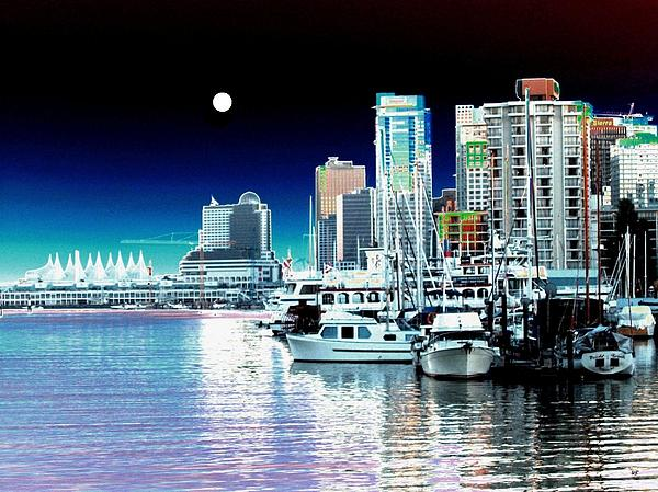 Vancouver Harbor Moonrise  Print by Will Borden