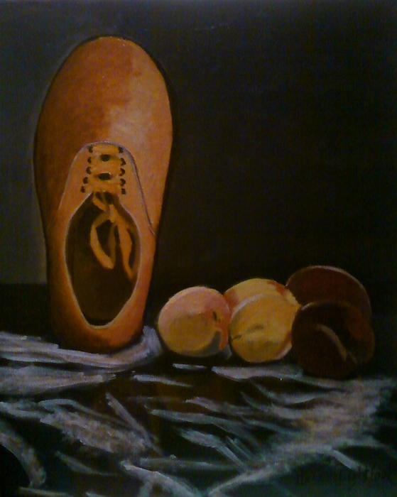 Vans And Peaches Print by Haley Lightfoot