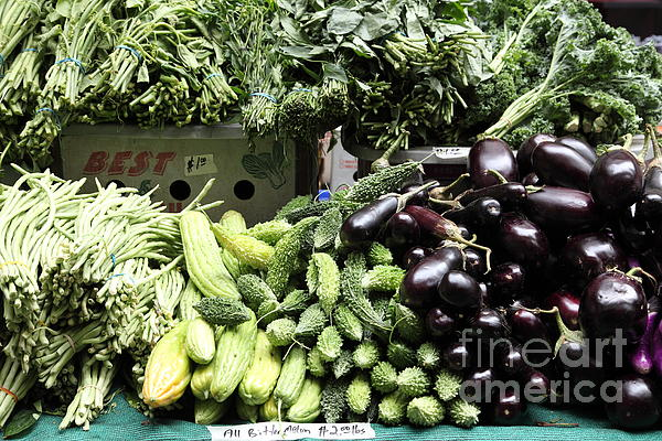 Variety Of Fresh Vegetables - 5d17828 Print by Wingsdomain Art and Photography