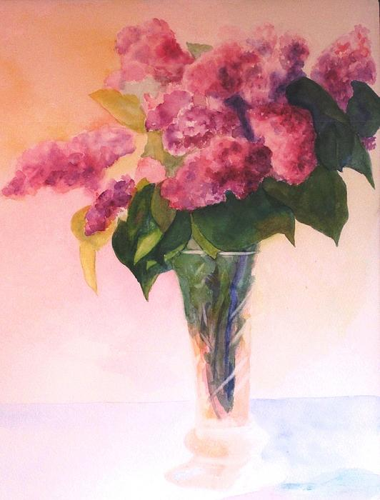 Holly Banks - Vase of Lilacs