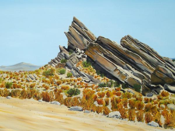 Vasquez Rocks Looking South Print by Stephen Ponting