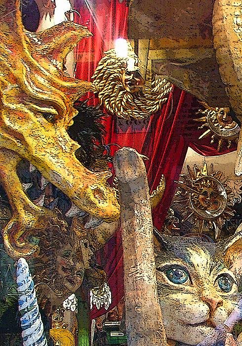 Venetian Animal Masks Print by Mindy Newman