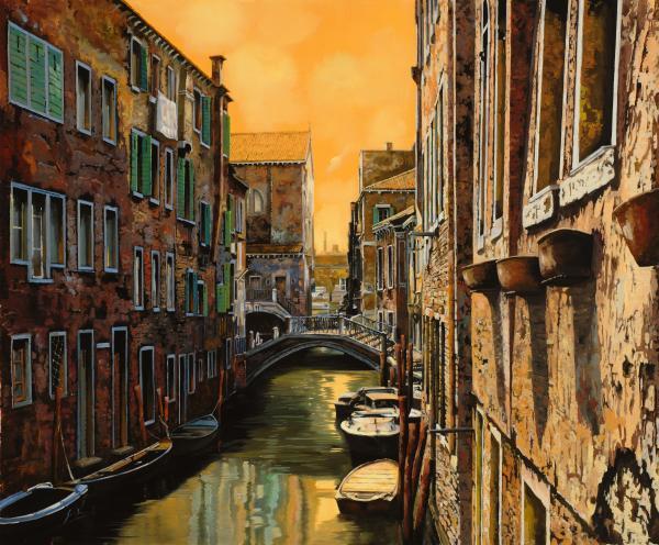 Venezia Al Tramonto Print by Guido Borelli