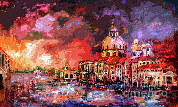 Venice Canal Italy  Print by Ginette Callaway