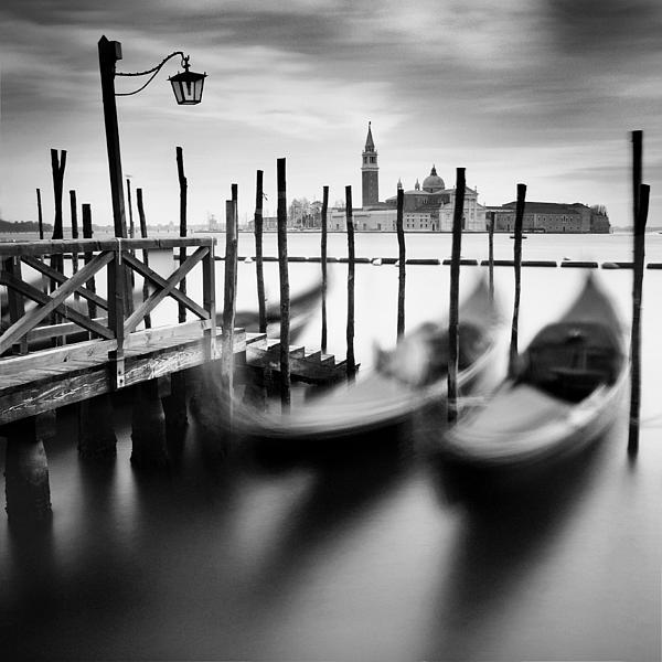Venice Gondolas Print by Nina Papiorek