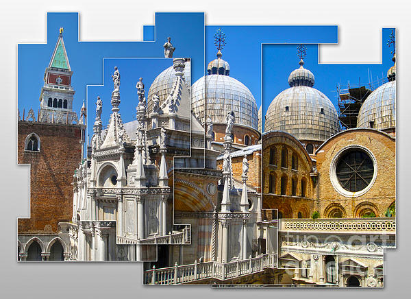 Venice Italy - Cathedral Basilica Of Saint Mark Print by Gregory Dyer
