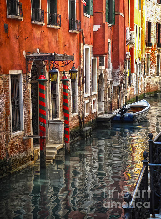 Venice Italy - Quiet Canal Print by Gregory Dyer